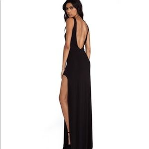 AQ/AQ Clutch Maxi Dress in Black Size US 0
